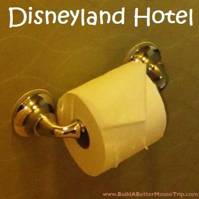 Disneyland Hotel toilet paper.