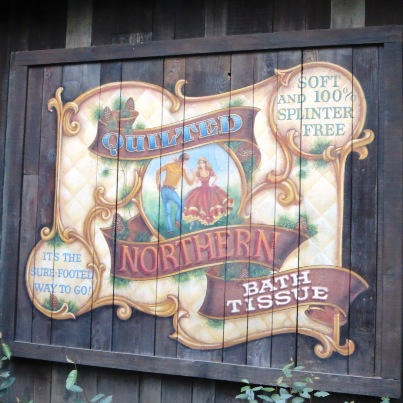 100% Splinter Free Toilet Paper in Frontierland at Disneyland.