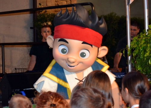 You can meet Jake, of Jake and the Never Land Pirates, in the Animation Courtyard at Disneys' Hollywood Studios theme park / Disney World - Florida.