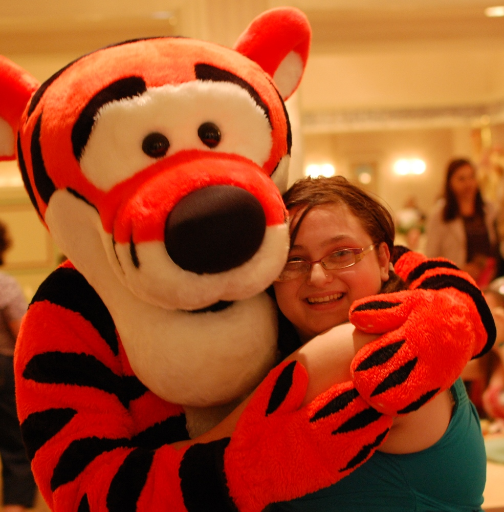 Tigger & Winnie the Pooh appear at the Supercalifragillistic Breakfast at 1900 Park Fare, located in Disney's Grand Floridian resort at Disney World / Florida.