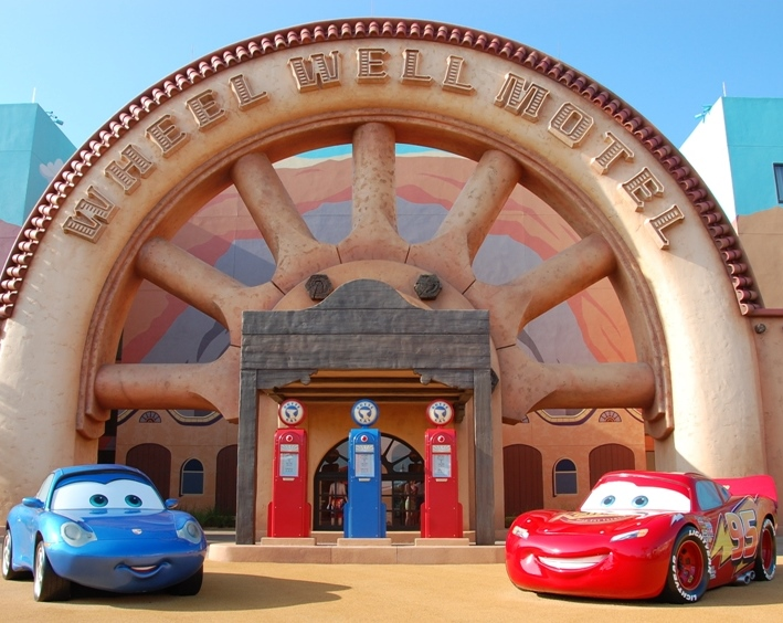 Cars area of Disney's Art of Animation resort at Disney World.
