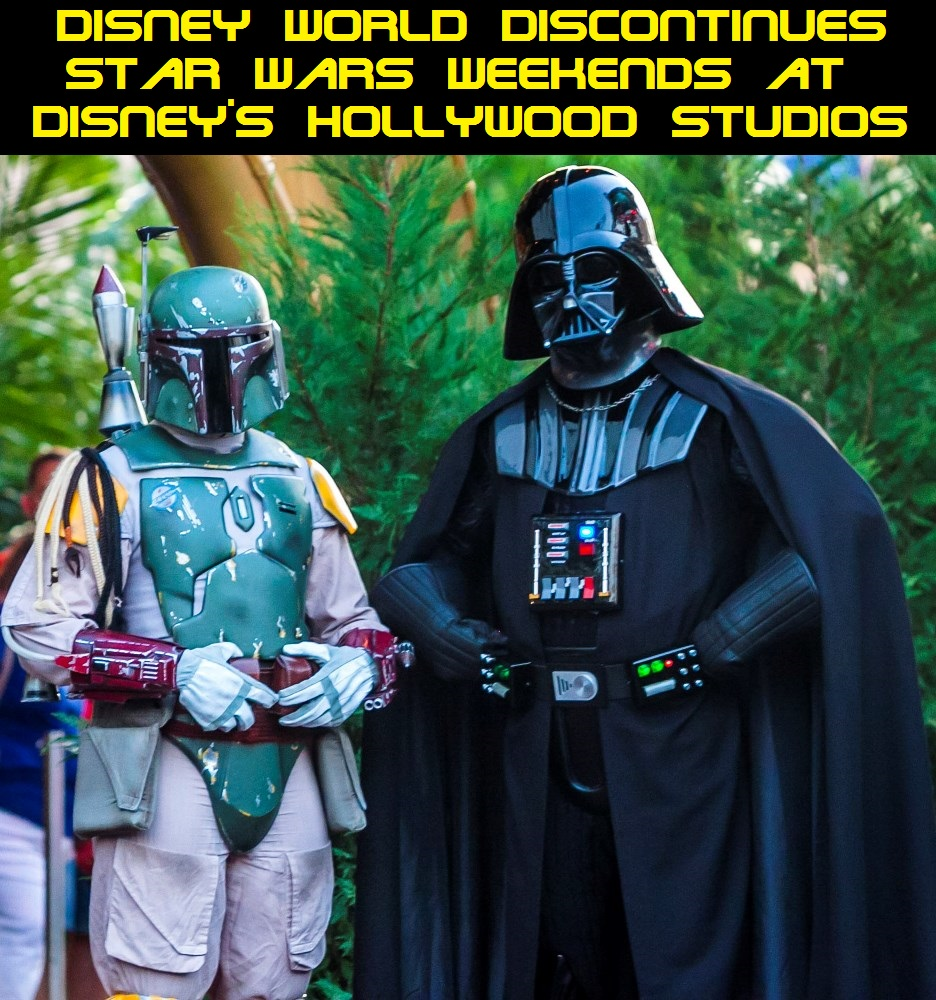 Disney World announces that they have discontinued Star Wars Weekends at Disney's Hollywood Studios.