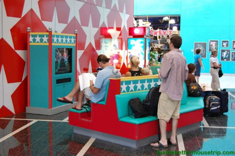 Cartoons for kids in the lobby at Disney's All-Star Music Resort