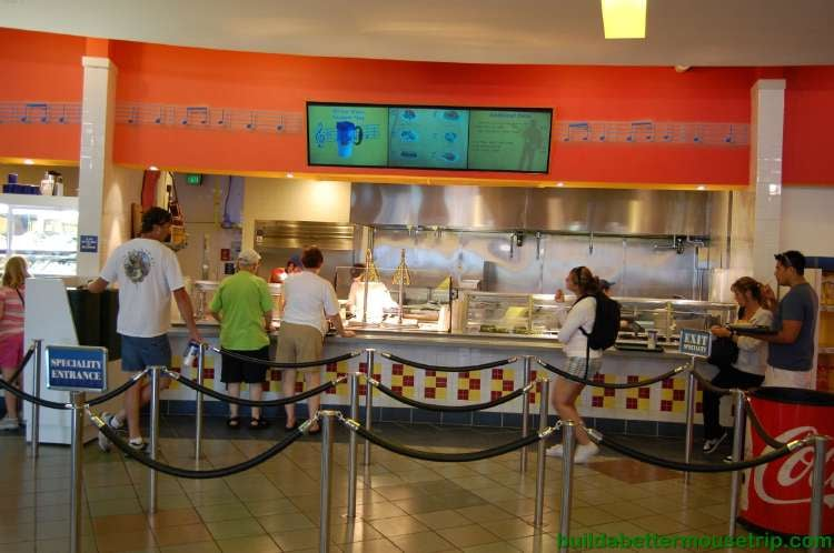 Intermission Food Court at Disney's All-Star Music Resort - Entrees