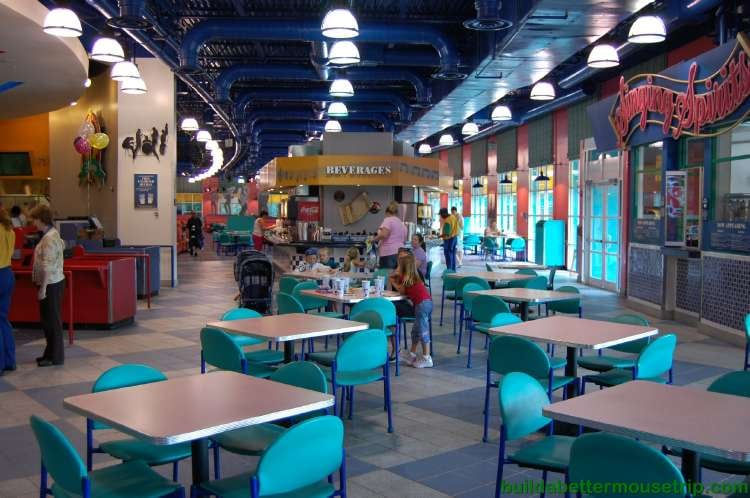 Dining room at the Intermission Food Court at Disney's All-Star Music Resort