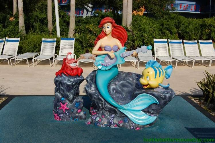 The Little Mermaid near the Piano Pool