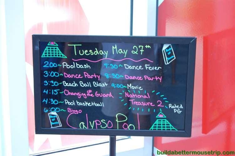 Disney's All-Star Music Resort Poolside Activities schedule