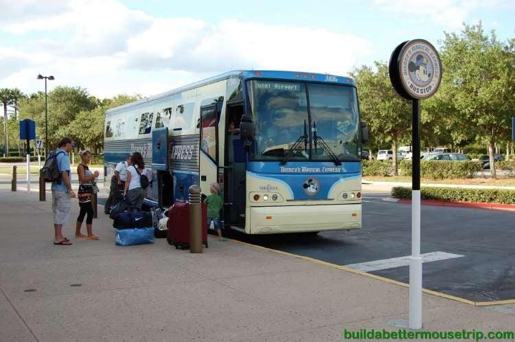 Disney's Magical Express bus at Disney's All-Star Music Resort