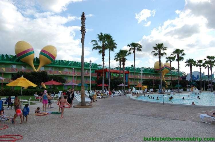 Calypso Courtyard & pool at Disney's All-Star Music Resort / Walt Disney World Resort - Florida.