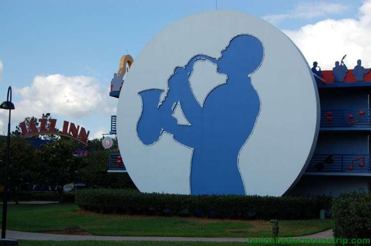 Jazz Inn section at Disney's All-Star Music Resort