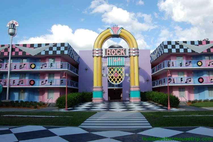 Rock Inn section of Disney's All-Star Music Resort