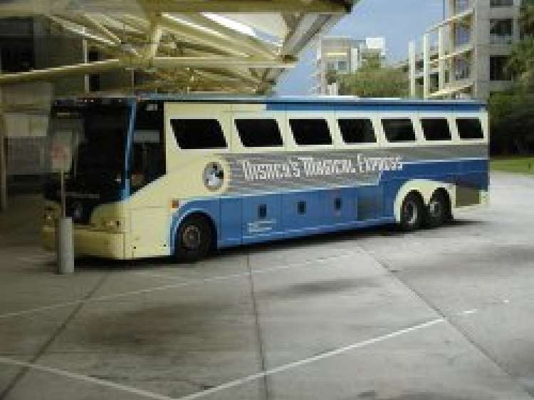 Disney's All-Star Music Resort guests flying into the Orlando International Airport can take Disney's Magical Express to their hotel for no extra charge - advance reservations required.