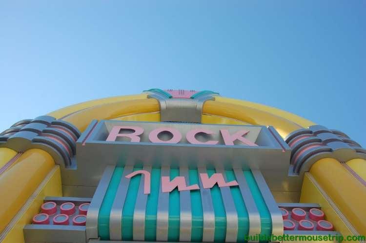 Giant jukebox in the Rock Inn section of Disney's All-Star Music Resort