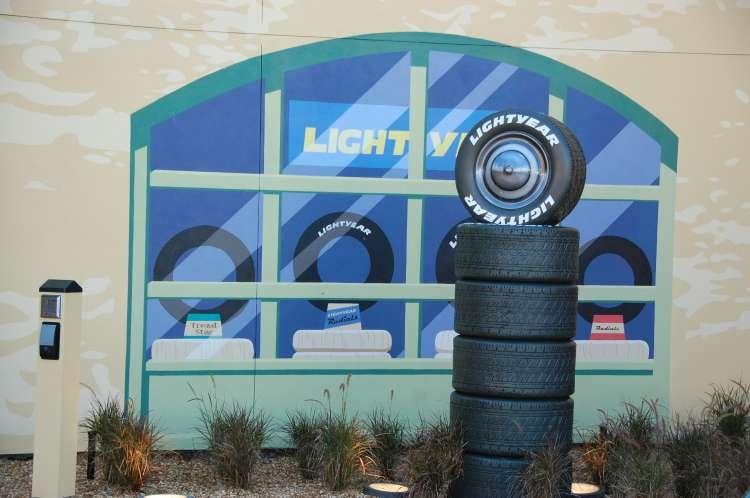 Art-of-Animation-520-Lightyear-Tires-Tower-at-Disneys-Animation-Hotel.JPG