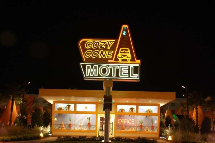 Disney's-Art-of-Animation-Cozy-Cone-Motel-at-night.JPG
