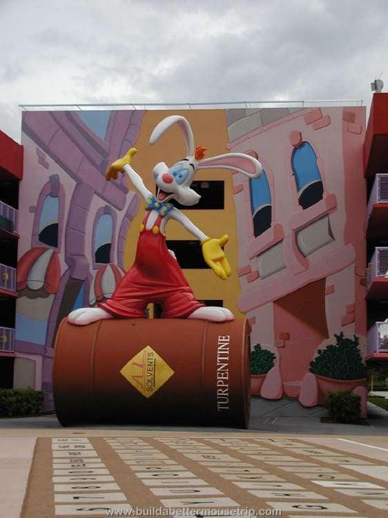 Roger Rabbit statue at Disney's Pop Century Resort