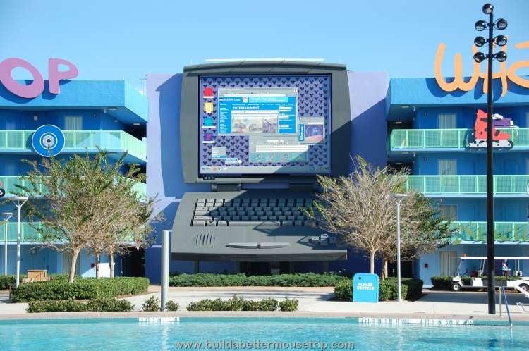Giant computer icon at Disney's Pop Century Resort