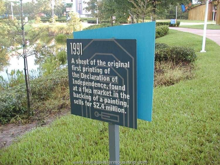1991: Trivia sign at Disney's Pop Century Resort