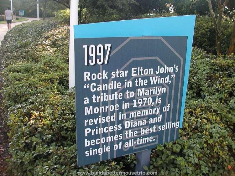 1997 Trivia Sign at  at Disney's Pop Century Resort / Disney World