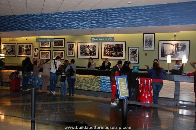 Check-in desk at Disney's Pop Century Resort