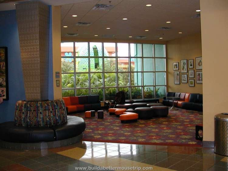 Children's seating area at Disney's Pop Century Resort