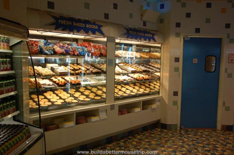 Pastries and desserts available in the Grab and Go section of Everything Pop / Disney's Pop Century Resort