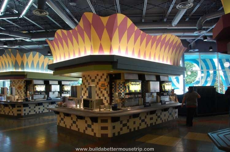 Mug refill area in Everything Pop / Disney's Pop Century Resort