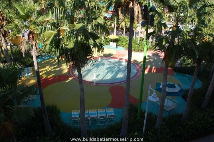Splash play area at Disney's Pop Century Resort