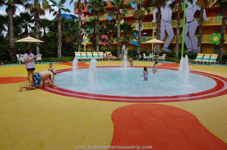 kiddie pool area at Disney's Pop Century Resort