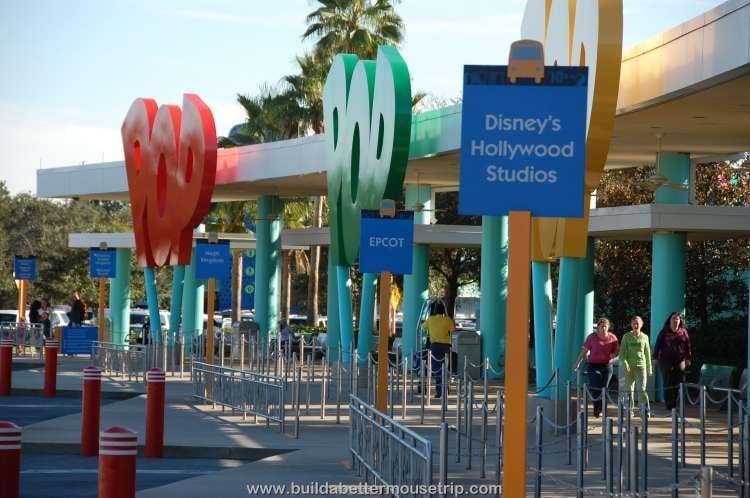 Bus stops at Disney's Pop Century Resort