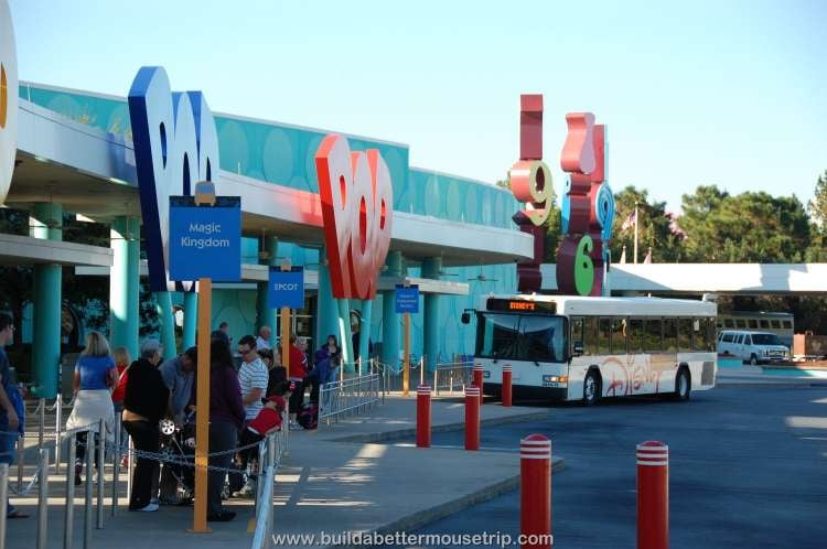 Buses to the Walt Disney World Resort theme parks from Disney's Pop Century Resort