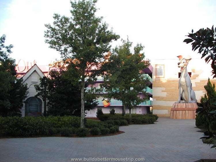 Tramp building at Disney's Pop Century Resort