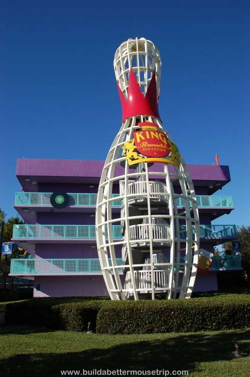 Bowling pin staircase at Disney's Pop Century Resort