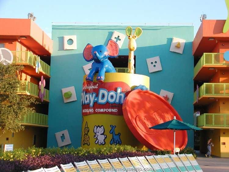 Play-Doh area at Disney's Pop Century Resort