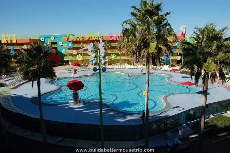 1960s area courtyard at Disney's Pop Century Resort
