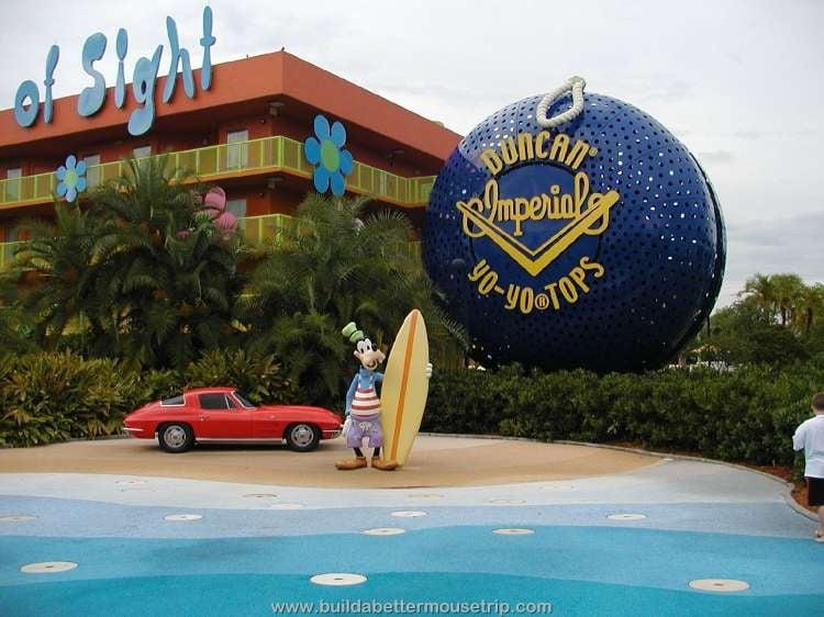 Surfer-dude Goofy at Disney's Pop Century Resort