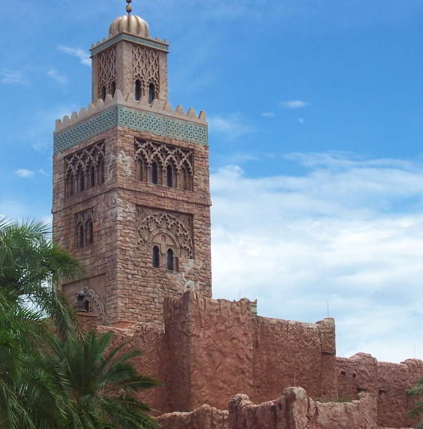 The Morocco Pavilion in the World Showcase at Epcot / Disney World.