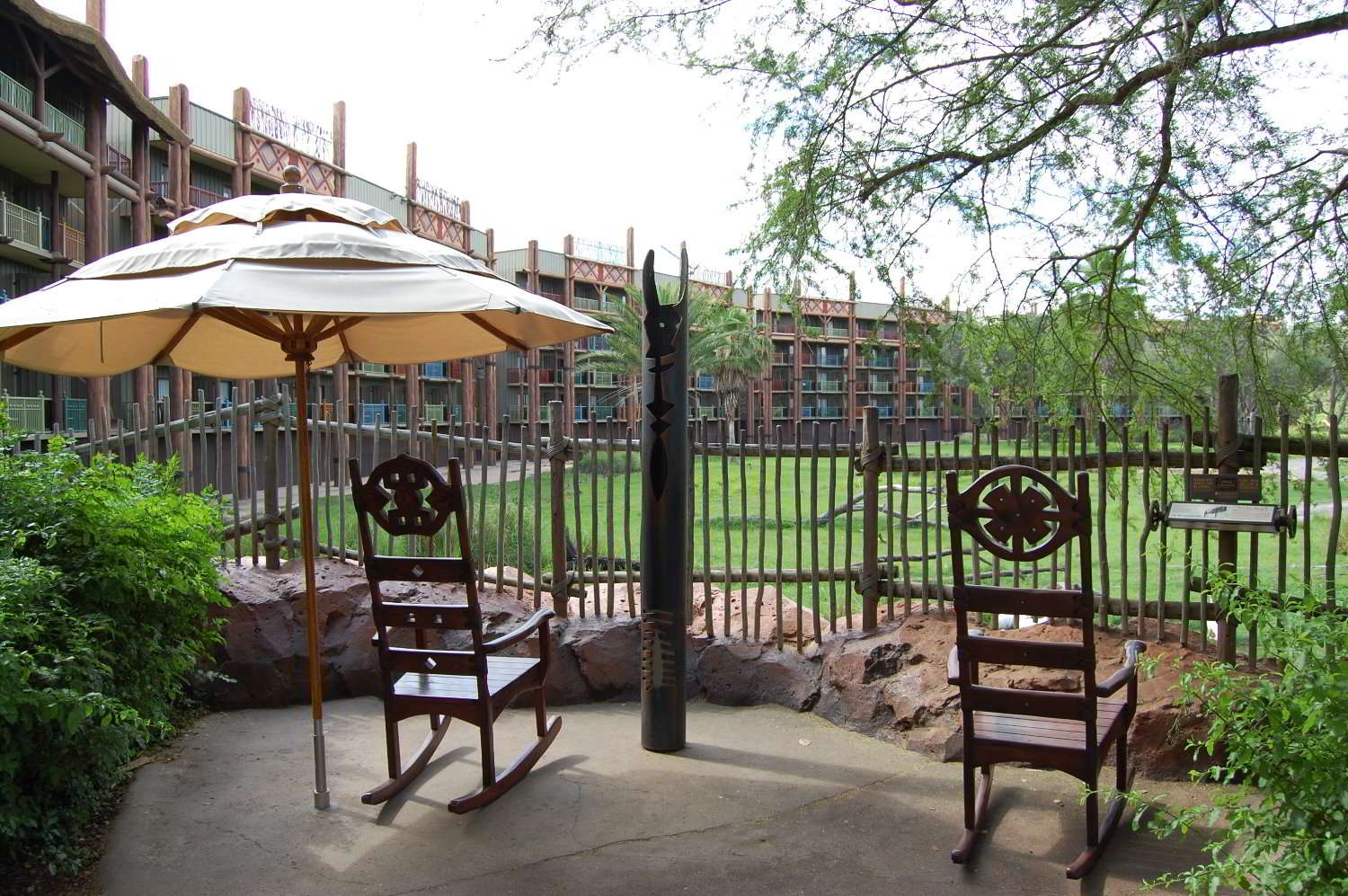 A Disney World vacation can be really busy but Disney's Animal Kingdom lodge provides lots of wonderful spaces to sit and relax and enjoy the African animals that make their home at this beautiful deluxe resort.