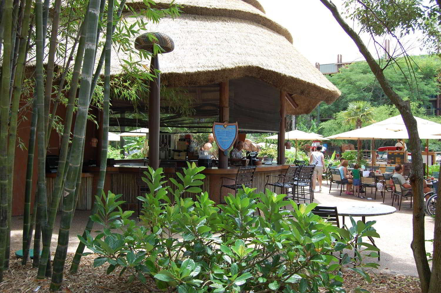 Uzima Springs Poolside Bar at Disney's Animal Kingdom Lodge.
