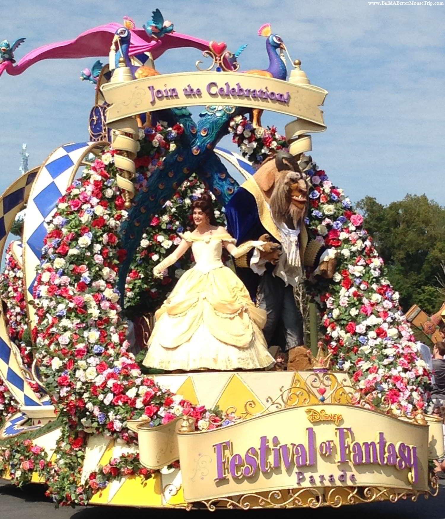 Princess Garden float in the Festival of Fantasy Parade in the Magic Kingdom at Disney World.