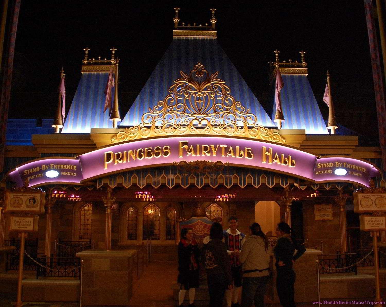 Meet Four Disney Princesses at Princess Fairytale Hall in Fantasyland - Magic Kingdom.