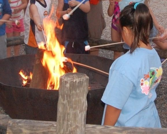 Bring your marshmallows and enjoy a Campfire Sing-Along with Chip 'n Dale and marshmallow roast at the Disney World Fort Wilderness campground. You can purchase s'mores kits there.
