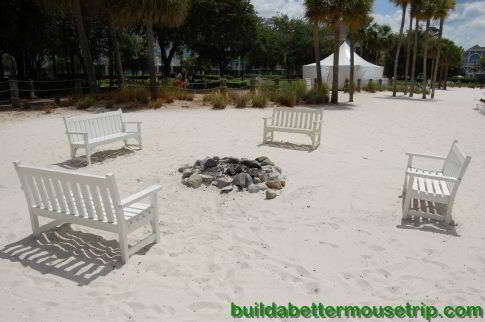 Campfire Area at Disney's Beach and Yacht Club