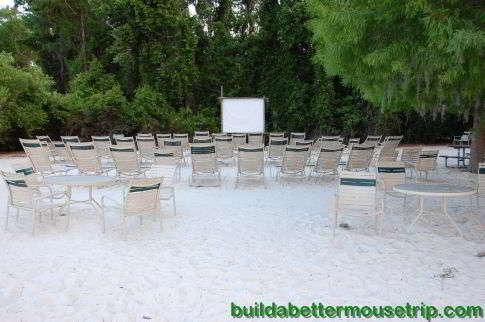 Wilderness Lodge Outdoor Movie Screen