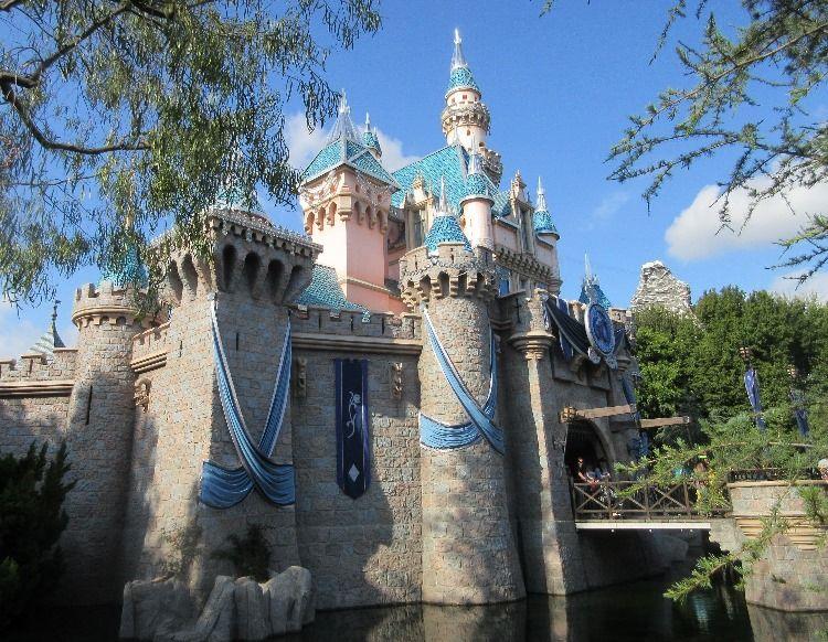Sleeping Beauty's Castle in Disneyland - Anaheim, California.