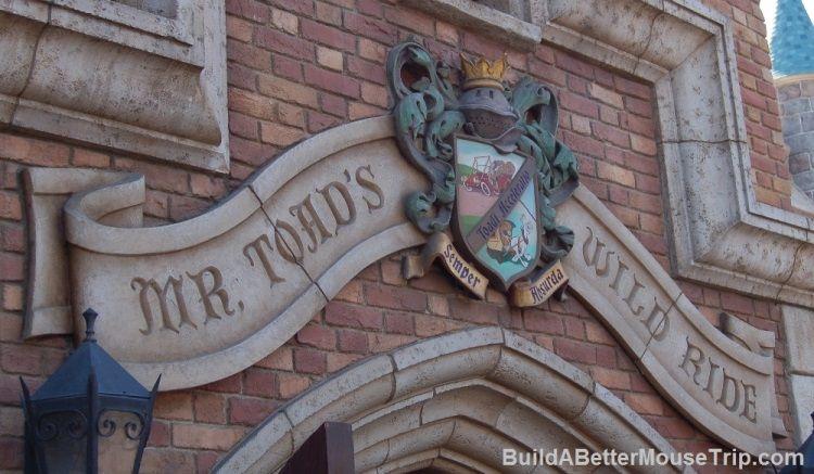Toad's Wild Ride in the Fantasyland area of Disneyland - California.
