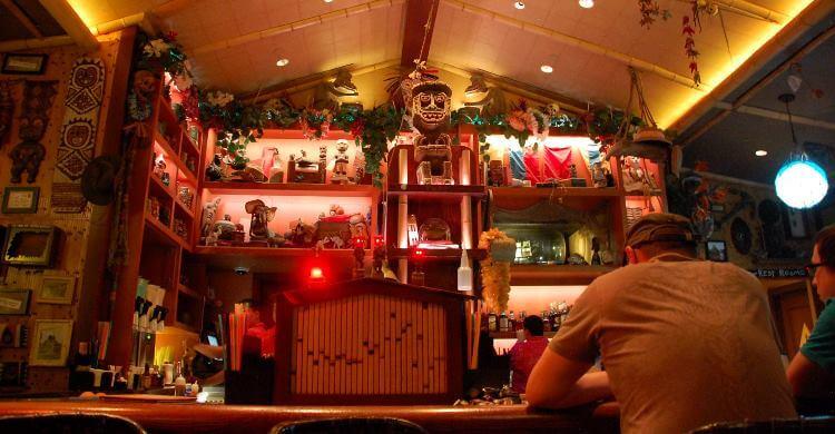 Trader Sam's Enchanted Tiki Bar at the Disneyland Hotel in California.