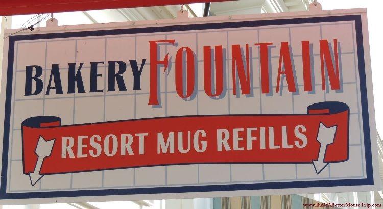 Boardwalk Bakery Mug Refill Station at Walt Disney World Resort