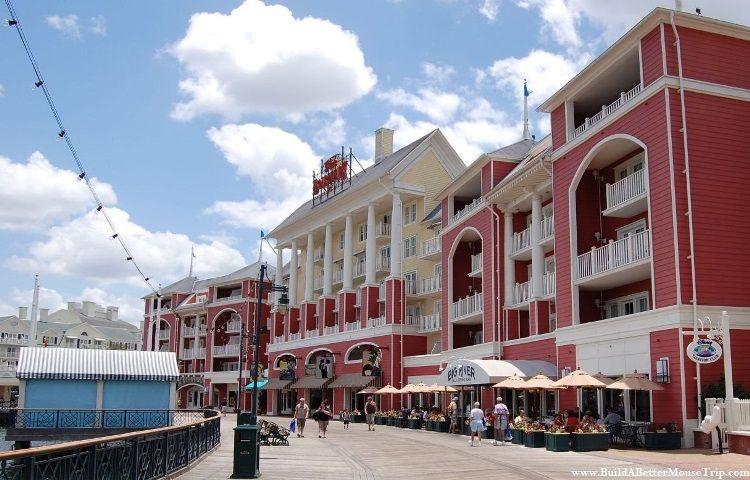 The Boardwalk Entertainment District & promenade at the Walt Disney World Resort in Florida.