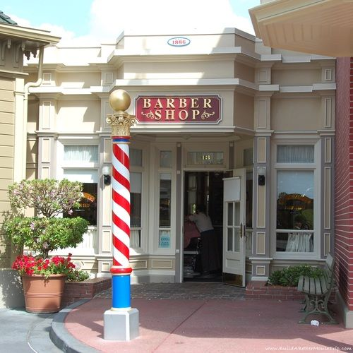 Harmony Barber Shop on Main Street USA in the Magic Kingdom